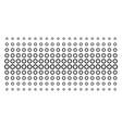 gear shape halftone effect vector image vector image