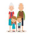 grandparents couple with grandchildren avatars vector image vector image