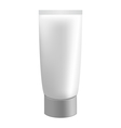 Grey cream tube isolated on white vector image