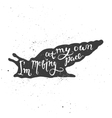 I am moving at my own pace lettering in snail vector image