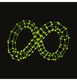 Infinity symbol Can be used as design element vector image vector image