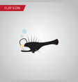 isolated anglerfish flat icon fish element vector image vector image