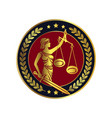 lady justice themis emblem vector image vector image