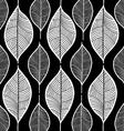 leaf sketch doodle set 1 black vector image vector image