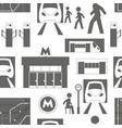 metro underground symbols pattern vector image