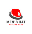 modern hat or fashion shop logo vector image vector image