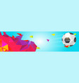 modern sport banner for soccer tournament vector image vector image