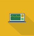 monitoring icon set of great flat icons with vector image vector image