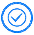 ok rounded grainy icon vector image