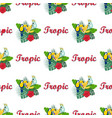 pattern with toukan and parrot vector image vector image