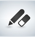 pencil and erasermodern design flat icon vector image