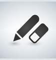 pencil and erasermodern design flat icon vector image vector image
