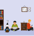 people reading design vector image vector image