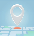 Plastic map pin over spot vector image vector image