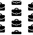Portfolio symbol icon seamless pattern vector image vector image