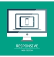 Responsive web design vector image vector image