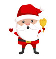 santa claus icon new year character for christmas vector image vector image