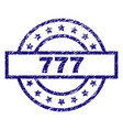 scratched textured 777 stamp seal vector image