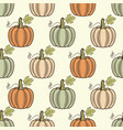 seamless pattern pumpkins vector image