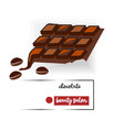 set of chocolate drops and blots vector image