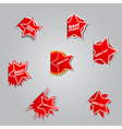 Set of different labels star vector image vector image