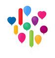 set of flat celebration balloons vector image vector image