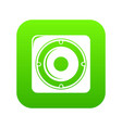 speaker icon green vector image vector image