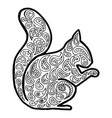 squirrel tangle pattern vector image vector image