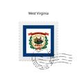 state west virginia flag postage stamp vector image