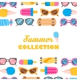 Summer collection of objects vector image