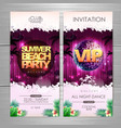 summer party poster design summer beach party vector image vector image