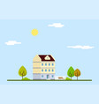 townhouse urban landscape vector image vector image