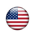 united states of america flag on button vector image
