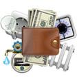 utilities payments concept vector image