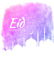 watercolor background for eid festival season vector image vector image