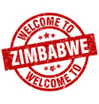 welcome to zimbabwe red stamp vector image vector image