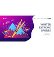 winter extreme sports concept landing page vector image vector image