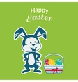 Easter Rabbit Icon Egg Design Flat vector image