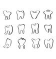 abstract tooth icon vector image