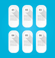 clean modern white infographic banners set vector image