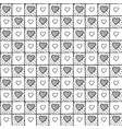 cute simple seamless checkered pattern with hearts vector image