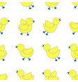 3 styles of yellow birds line up on white vector image