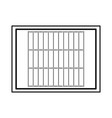 american football field icon vector image vector image