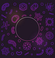 bacteria and viruses square colored outline vector image