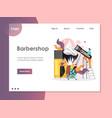 barbershop website landing page design vector image vector image