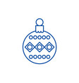 beautiful christmas ball line icon concept vector image vector image