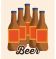 Beer bottle drink design vector image
