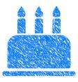 birthday cake grunge icon vector image vector image