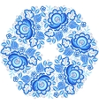 Blue snowflake in gzhel style vector image vector image