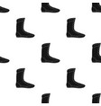 boxing shoes icon in black style isolated on white vector image vector image